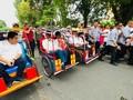 Jokowi Bakal Diarak Becak Menuju Lokasi Kampanye di Palembang