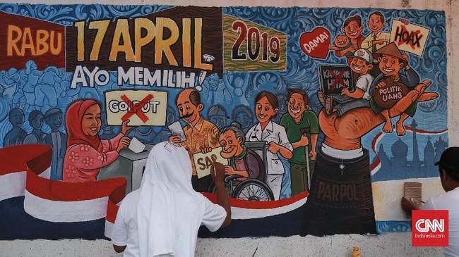 Pilpres 2019 kali ini melibatkan pertarungan ulang Joko Widodo melawan Prabowo Subianto. Jokowi selaku capres petahana maju didampingi cawapres Ma'ruf Amin, sementara Prabowo didampingi cawapres Sandiaga Uno. CNN Indonesia/Andry Novelino