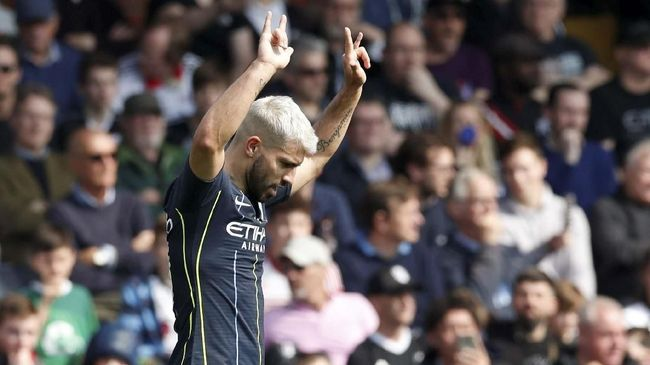 Daftar Top Skor Liga Inggris: Aguero Kejar Salah