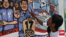 FOTO: Mural Pemilu 2019