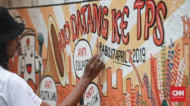 Pemilu 2019 dinilai lebih terpusat menyoroti persaingan kontestasi pilpres yang kembali mempertemukan Jokowi dan Prabowo. CNN Indonesia/Andry Novelino