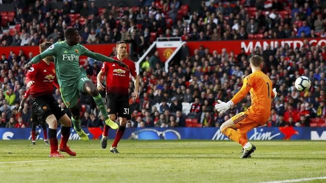 Abdoulaye Doucoure mempertipis ketertinggalan Watford dengan sebuah gol pada menit ke-90. (Action Images via Reuters/Jason Cairnduff)