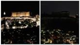 Belasan ikon dunia yang ikut serta dalam gerakan Earth Hour tahun ini antara lain Menara Eiffel (Paris), Empire State Building (New York), Big Ben (London) dan Victoria Harbour (Hong Kong). (REUTERS/Costas Baltas)