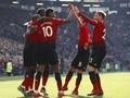 FOTO: Rashford dan Martial Tajam, Man United ke Empat Besar