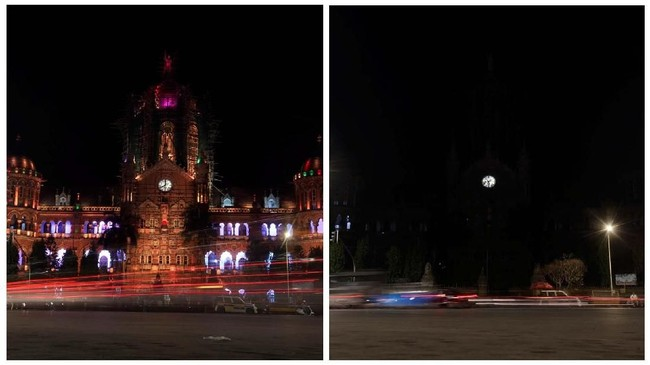 Earth Hour telah rutin dimulai sejak tahun 2007 di Sydney Australia. (REUTERS/Francis Mascarenhas)