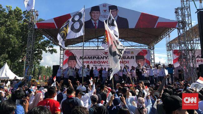 Kampanye di 'Kandang Banteng', Massa Prabowo Tumpah Ruah