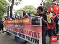 Puluhan Orang Demo KPU, Minta Golput Tak Diintimidasi