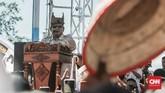 Capers nomor urut 2 Prabowo Subianto, saat pidato di Kampanye Akbar, di Padang, Sumatera Barat. (CNN Indonesia/Andry Novelino)