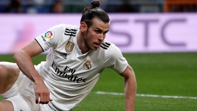 Sebagai pemain dengan gaji tertinggi di Real Madrid, Gareth Bale diklaim mendapat bayaran €40,2 juta atau setara Rp641 miliar per tahun termasuk pendapatan dari sponsor seperti Adidas. (REUTERS/Juan Medina)