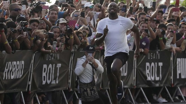 Usain Bolt total mengoleksi delapan medali emas Olimpiade di Beijing, London, dan Rio de Janeiro. (REUTERS/Henry Romero)