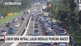 VIDEO: Libur Isra Mi'raj, Lalin Puncak Macet