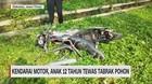 VIDEO: Kendarai Motor, Anak 12 Tahun Tewas Tabrak Pohon