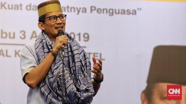 Sandi Tanggapi Insiden Prabowo: Jangan Cengeng Lawan Rezim