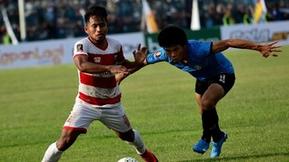 Hasil Liga 1 2019: Madura United Kalahkan Arema FC 1-0