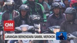 VIDEO: Merokok Sambil Berkendara Kini Mendapat Hukuman Tilang
