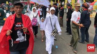 Anak-anak Ikut Kampanye Jokowi di Banyumas