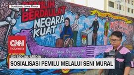 VIDEO: Jelang Pemilu, KPU Jatim Gelar Lomba Mural