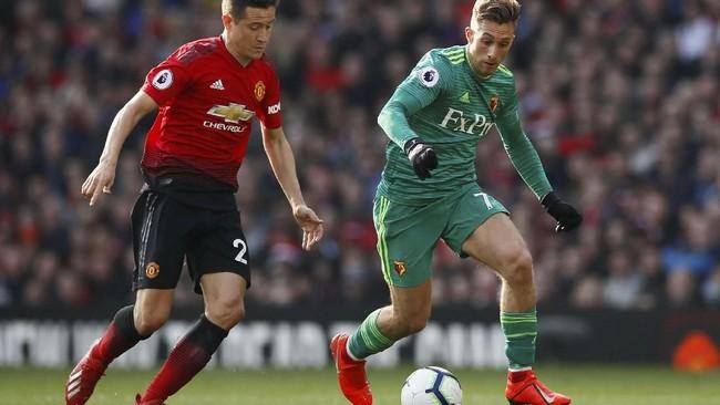 Gelandang asal Spanyol Ander Herrera dikabarkan Sky Sports sudah mencapai kesepakatan verbal untuk bergabung dengan Paris Saint-Germain musim depan. (Reuters/Jason Cairnduff)