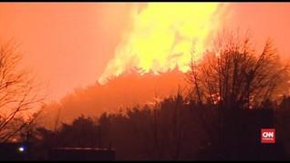 VIDEO: Kebakaran di Korsel, 3.000 Orang Mengungsi