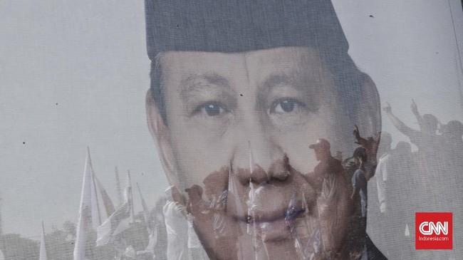 kampanye Calon Presiden nomor urut 02 Prabowo Subianto di Lapangan Lokasana, Ciamis, Jawa Barat. Sabtu, 6 April 2019. CNNIndonesia/Adhi Wicaksono.