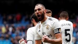 Benzema Dua Gol, Real Madrid Kalahkan Eibar 2-1