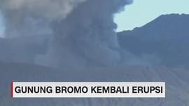VIDEO: Gunung Bromo Kembali Erupsi