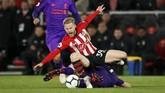 Tertinggal satu gol dari Southampton justru melecut motivasi Liverpool yang tengah bersaing memperebutkan puncak klasemen dengan Manchester City. (REUTERS/David Klein)