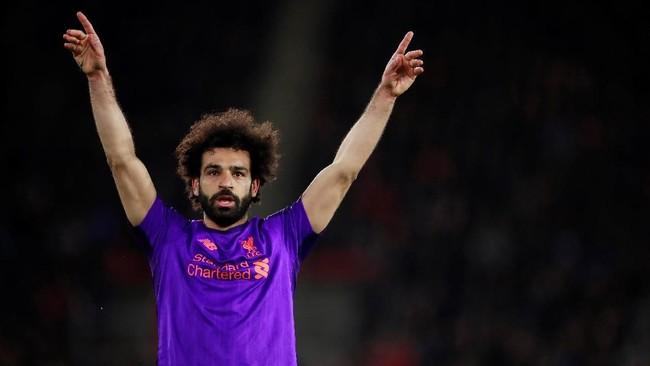 Gol ke gawang Southampton jadi gol ke-50 Mohamed Salah di Liga Primer Inggris bersama Liverpool. (Reuters/Andrew Couldridge)