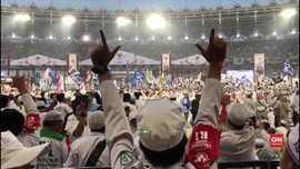VIDEO: 'Lautan Putih' Hadiri Kampanye Akbar Prabowo-Sandi