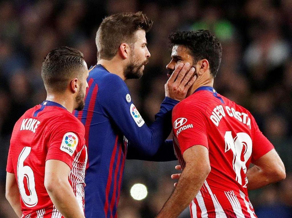 Gerard Pique begitu tangguh mengawal pertahanan Barcelona sehingga jadi tim kedua dengan jumlah kebobolan paling sedikit di bawah Atletico. (Albert Gea / Reuters)
