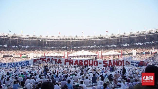 Prabowo-Sandi Klaim 1 Juta Orang Hadiri Kampanye Akbar di GBK