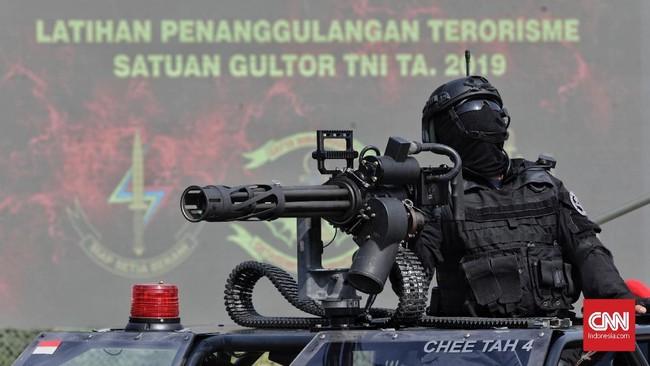 Latihan gabungan penanggulangan terorisme ini mengusung tema