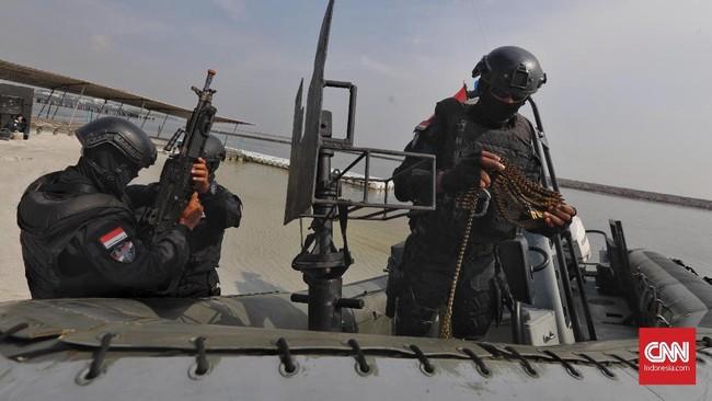 Tujuan diadakannya latihan ini adalah menguji kesiapsiagaan Satgultor TNI untuk melaksanakan operasi penanggulangan terorisme dalam rangka menghadapi kemungkinan ancaman terorisme yang diperkirakan akan terjadi. (CNN Indonesia/Adhi Wicaksono)