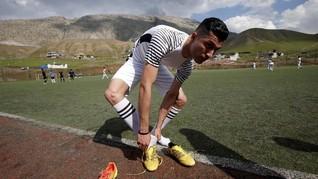 FOTO: Biwar Abdullah, Cristiano Ronaldo 'KW' dari Irak