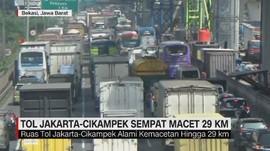 VIDEO: Ruas Jakarta-Cikampek Sempat Macet 29 KM