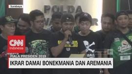 VIDEO: Jelang Final, Bonek & Aremania Lakukan Ikrar Damai