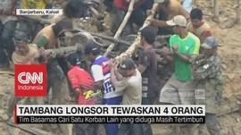 VIDEO: Empat Orang Tewas Akibat Longsor di Banjarbaru Kalsel