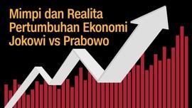 INFOGRAFIS: Pertumbuhan Ekonomi RI ala Jokowi vs Prabowo