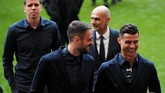 Cristiano Ronaldo dipastikan pelatih Juventus Max Allegri akan bermain saat melawan Ajax Amsterdam setelah pulih dari cedera hamstring saat memperkuat timnas Portugal di Kualifikasi Piala Eropa 2020. (REUTERS/Piroschka Van De Wouw)