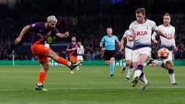 Rapor Pemain Tottenham vs Manchester City: Aguero Terburuk