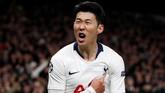 Torehan Son Heung-min saat melawan Man City membuat Tottenham mematahkan rapor buruk saat bertemu The Citizens di tiga pertemuan terakhir di kompetisi resmi. Kemenangan 1-0 di Stadion Tottenham menjadi modal pentingbagi The Lilywhites untuk leg kedua.(Action Images via Reuters/Paul Childs)