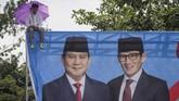 Dalam kampanye di Solo ini, Prabowo sempat menyebut ia tak diizinkan berkampanye di dua tempat di Semarang yakni di GOR Jatidiri dan Simpang Lima. (ANTARA FOTO/Mohammad Ayudha)