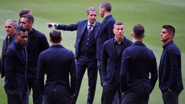Juventus menjalani leg pertama perempat final Liga Champions di Stadion Johan Cruijff Arena dan akan menjamu Ajax Amsterdam di Turin pekan depan. (REUTERS/Piroschka Van De Wouw)