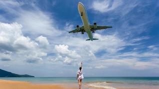 Pantai Mai Khao, Lokasi Selfie dengan Pesawat di Angkasa