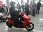 Naik Motor Listrik Gesits, Menteri Nasir Buka Pameran Startup