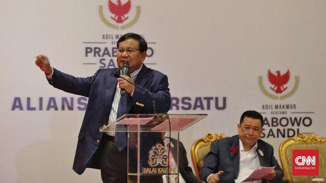 Prabowo Singgung soal Surat Suara Tercoblos di Depan Advokat