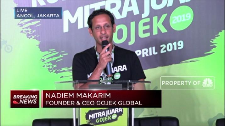 Nadiem Makarim mengatakan kata Gojek sudah menjadi salah satu kosakata di Indonesia.