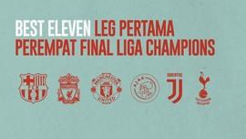 FOTO: Best XI Leg Pertama Perempat Final Liga Champions
