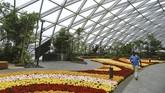 Dirancang oleh Moshe Safdie, bandara seluas 130 meter persegi ini tak hanya mewah namun juga dirancang serba teduh. (REUTERS/Feline Lim)