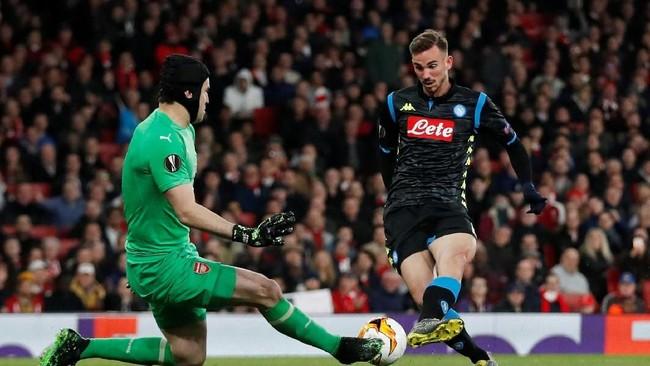 Napoli mencoba merespons ketertinggalan, salah satunya melalui Fabian Ruiz. (Action Images via Reuters/Matthew Childs)